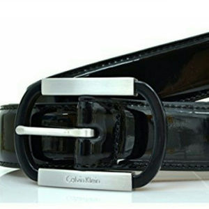 Accessories - Calvin Klein Womens Black leather Belt Meduim